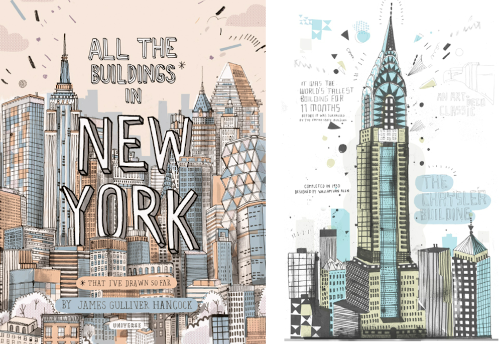 All the Building of New York sketches book