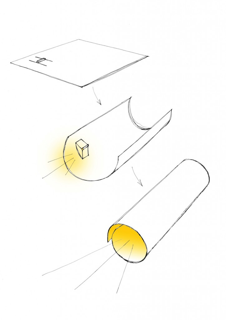 Paper torch Sketch low