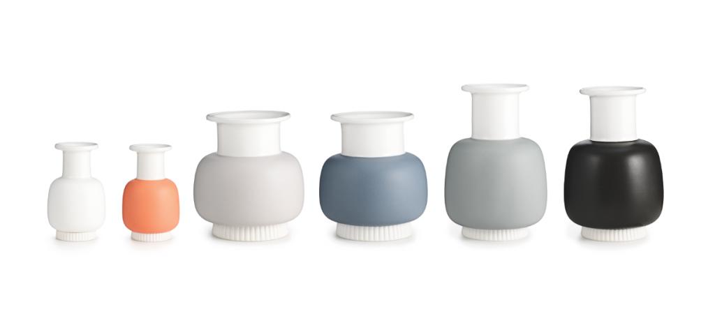 Normann Copenhagen - NIHAVN vases, design by Simon Legald - Courtesy of Normann Copenhagen.
