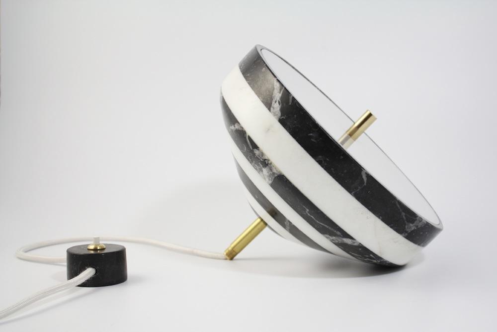 Studio BAAG pirouette lamp-carrara, nero marquinia marble