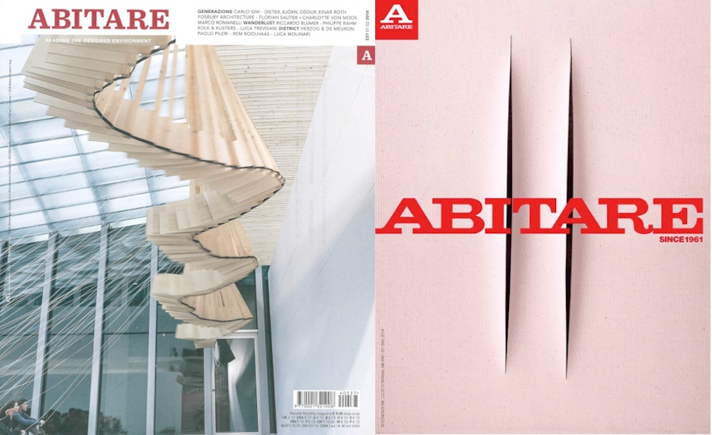 From left: Abitare cover, march 2014 and Abitare next cover