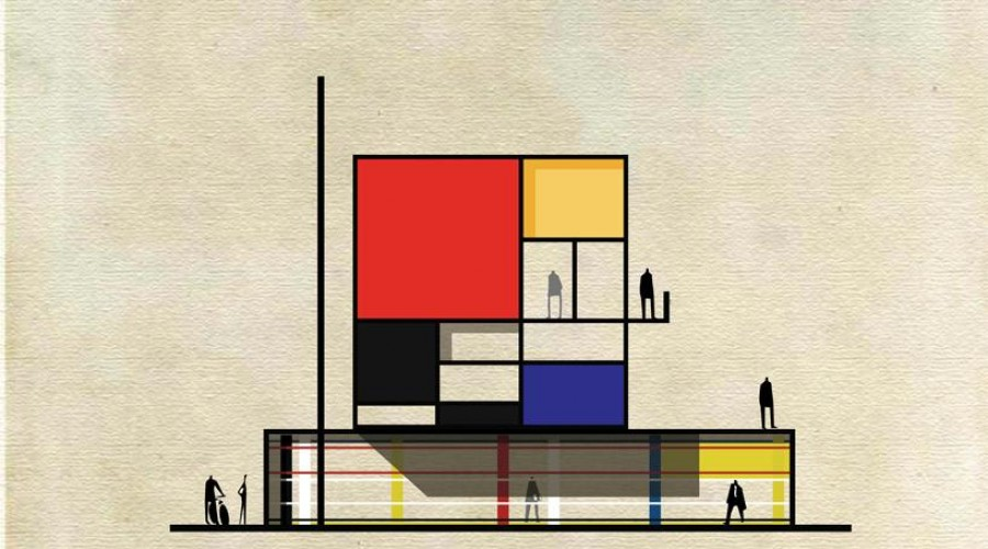 """Archist"" by Federico Babina: Mondrian"
