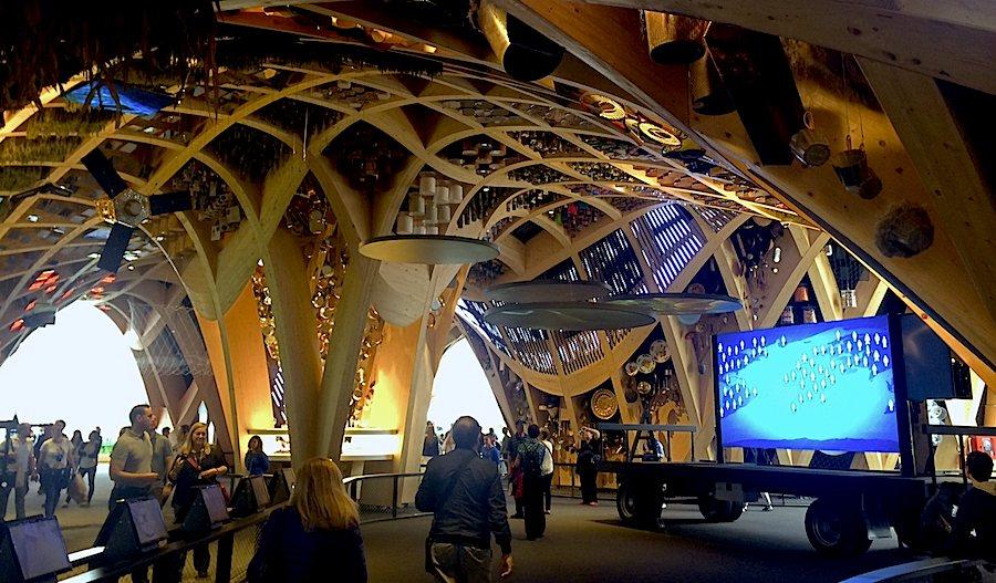 France pavilion on Expo 2015