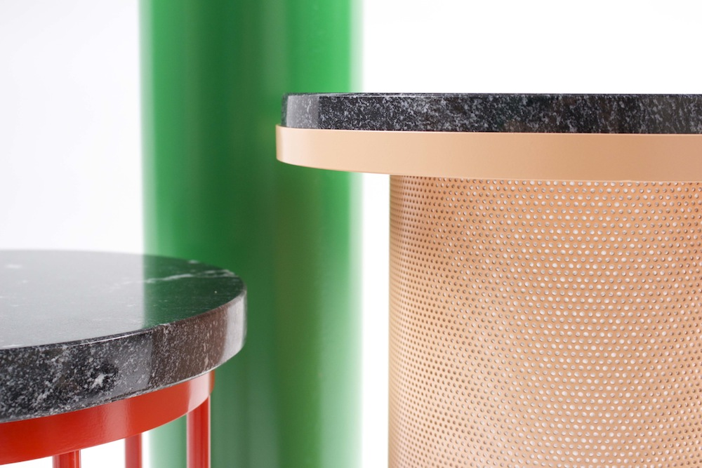 Vera & Kyte - Pedestal tables closeup