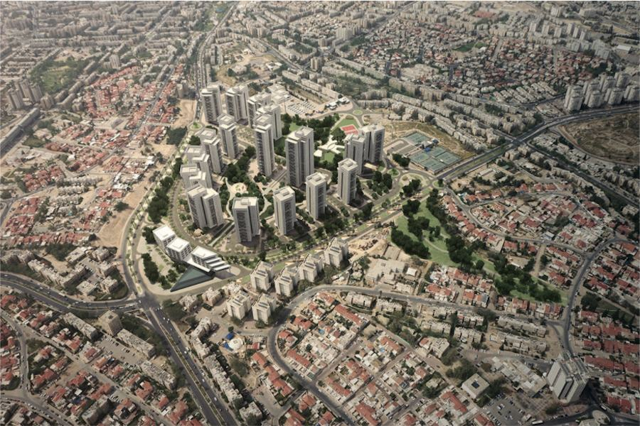 Aerial view of Rishon LeZion 2008, Photo by Moshe Milner / Courtesy of GPO.