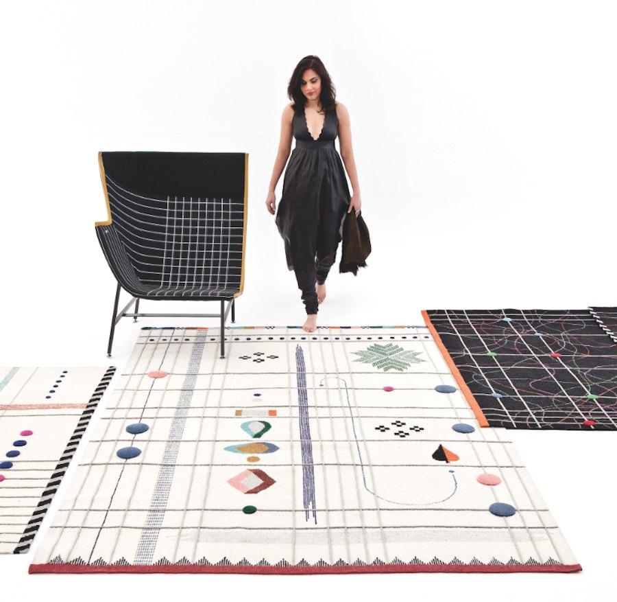 Rabari carpet collection by Doshi Levien for nanimarquina - Courtesy of nanimarquina.