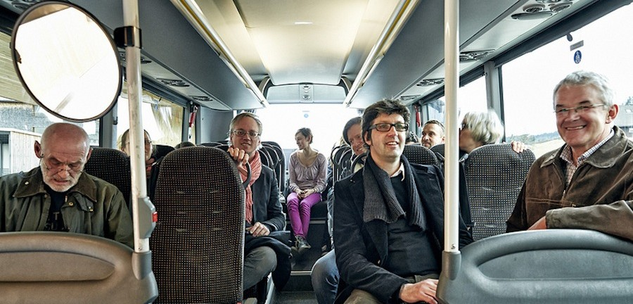 The Architects on board - © BUS:STOP Krumbach, Photo by Adolf Bereuter