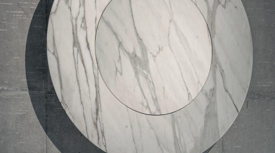 Established & Sons_From then On_Formafantasma_LDF_2014_03_Marble Clock_close-up_Peer Lindgreen