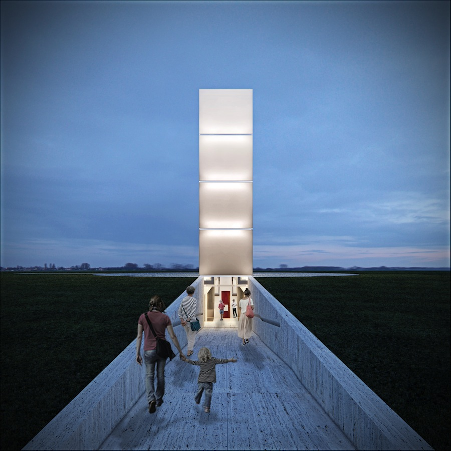Freedom of the Press Monument by Gustavo Penna Arquiteto & Associados; photo by Casa Digital.