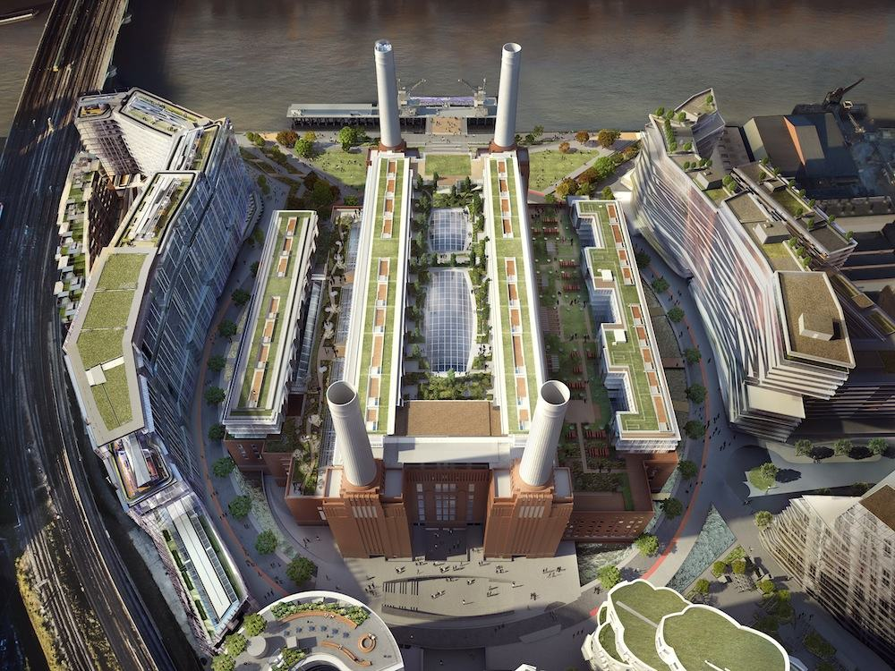 Battersea Power Station - Aerial view