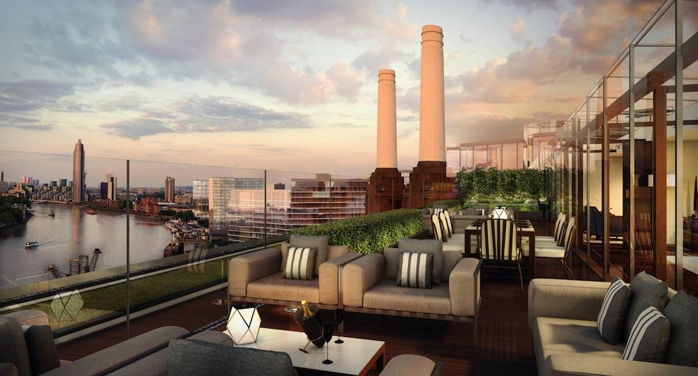 Battersea Power Station - Power Station Penthouse roof terrace