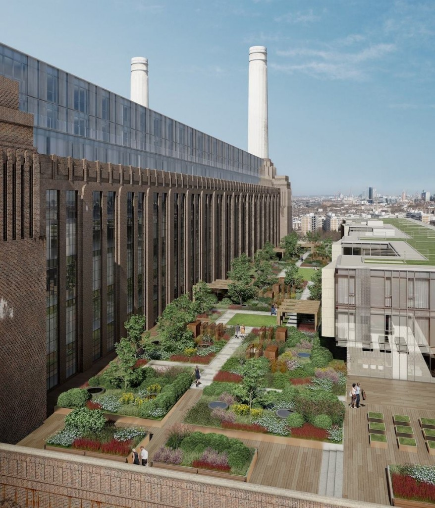 Battersea Power Station - Power Station rooftop garden by James Corner Field Operation