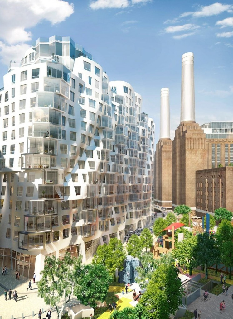 Battersea Power Station - Prospect Place and Prospect Park by Gehry Partners.