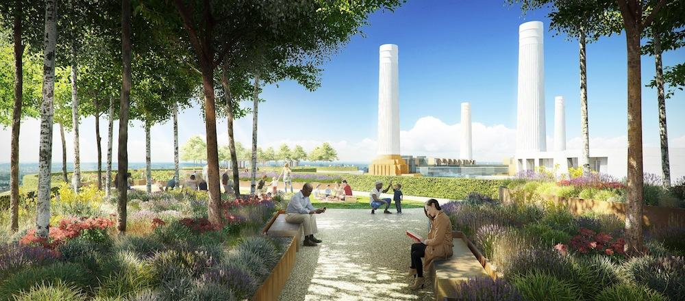 Battersea Power Station - Battersea Roof Garden by Foster+Partners