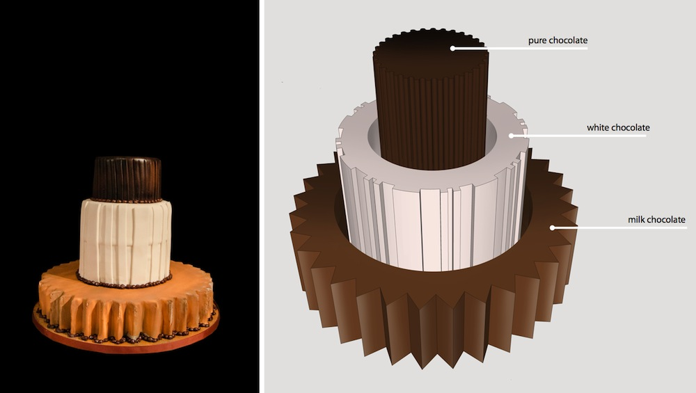 Chamber Cakes: Floris Wubben - Photo by Antonella Tignanelli (left), Sketch by Floris Wubben.