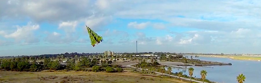 Flying Christmas Tree on a Drone