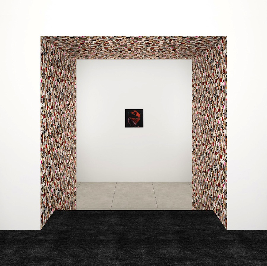 Guy Limone, Red, Black And Grey-White Tapestry, 2014. Andy Warhol, Human Heart, Circa 1979. Rendering Courtesy of Peter Marino Architect, PLLC.