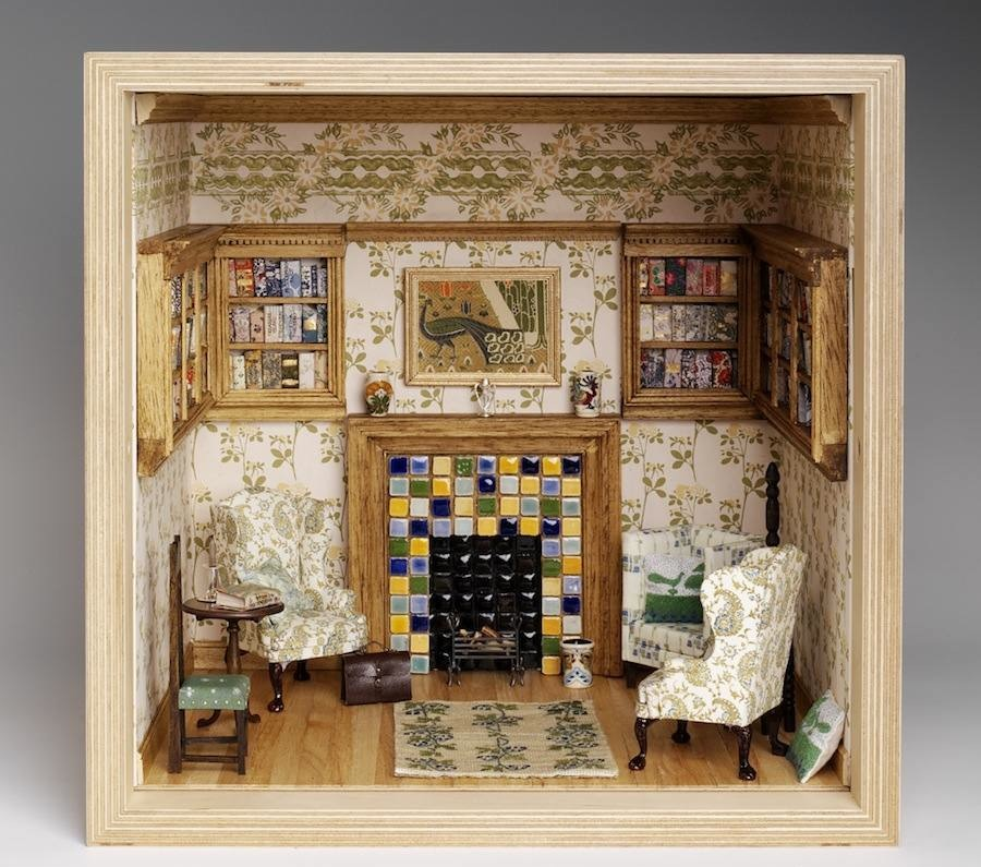 "Emma Watson, Liberty Art Fabrics Interiors - ""Small Stories: at Home in a Dolls' house"" - © Victoria and Albert Museum, London"