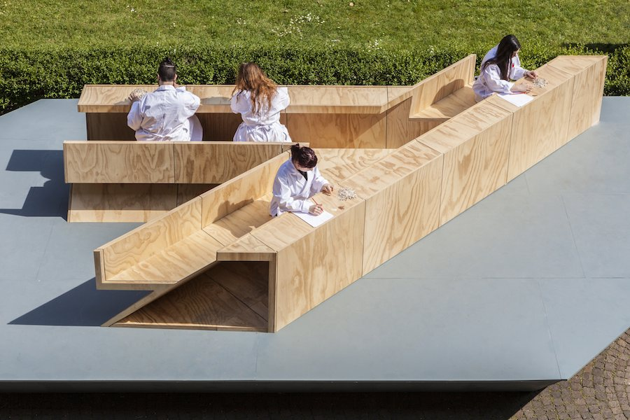 "Marina Abramovic Institute ""Counting the Rice "" @ Milan Design Week - Photo by Saverio Lombardi Vallauri."
