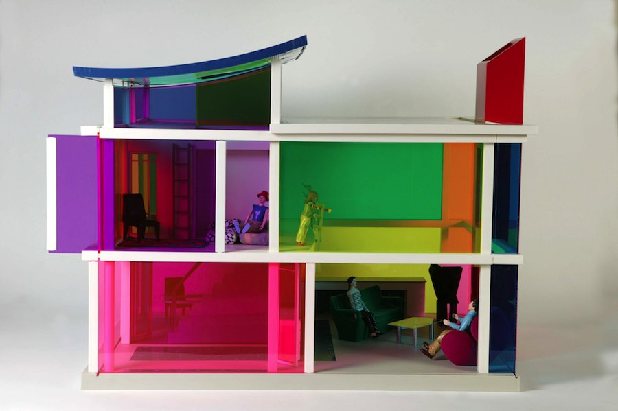 "Small Stories: at Home in a Dolls' house"": Laurie Simmons ""Kaleidoscope House"" - Artist:, Peter Wheelwright and Bozart (USA, 2001). © Victoria and Albert Museum, London"