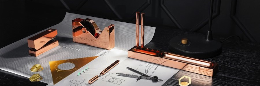 Copper & Brass Stationary by Tom Dixon