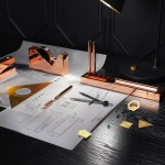 Copper and brass stationery by Tom Dixon