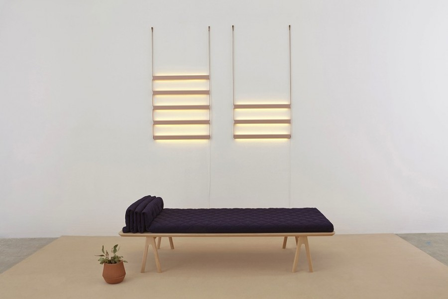 Futon daybed & Ladder light by MSDS.