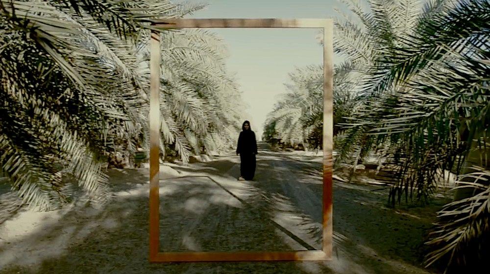 Latifa Faeed for Tashkeel. frame from tashkeel video.
