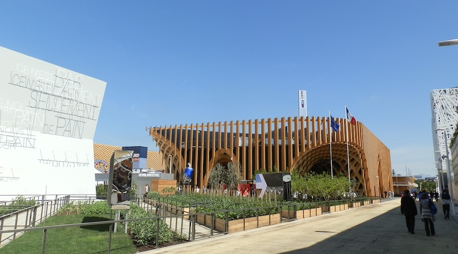France pavilion on Expo 2015
