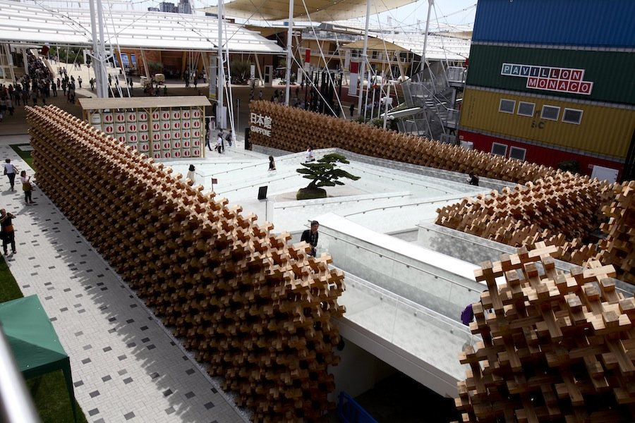 Japan's pavilion on Expo 2015
