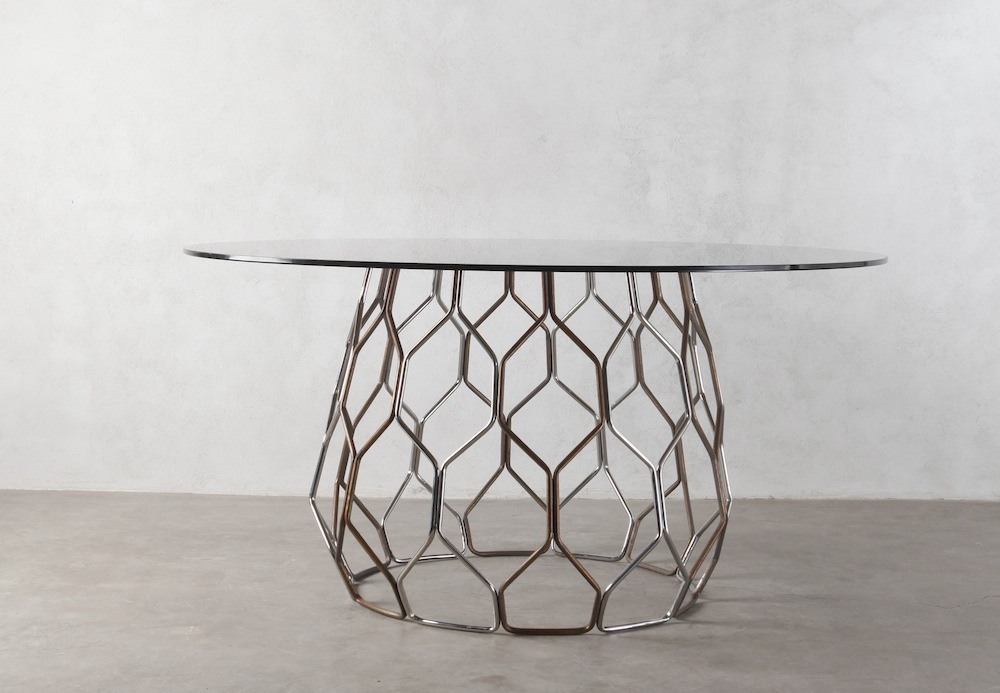 Flutty Dining Table by Industria Edizioni.