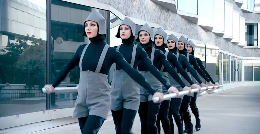 "Chemical Brothers: ""Go"". Frame from the music video directed by Michel Gondry."