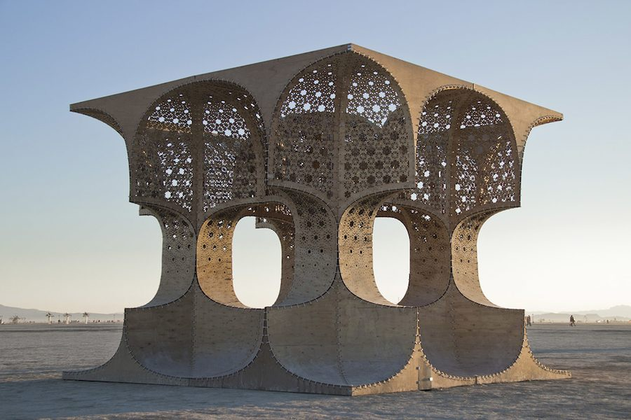 """The Hayam Sun Temple"" by Josh Haywood, Burning Man 2014 - Courtesy of Josh Haywood."