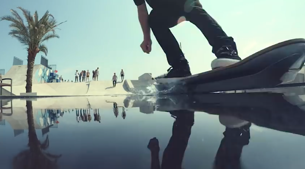 Lexus Hoverboard - Frame from new film for the Amazing in Motion campaign.