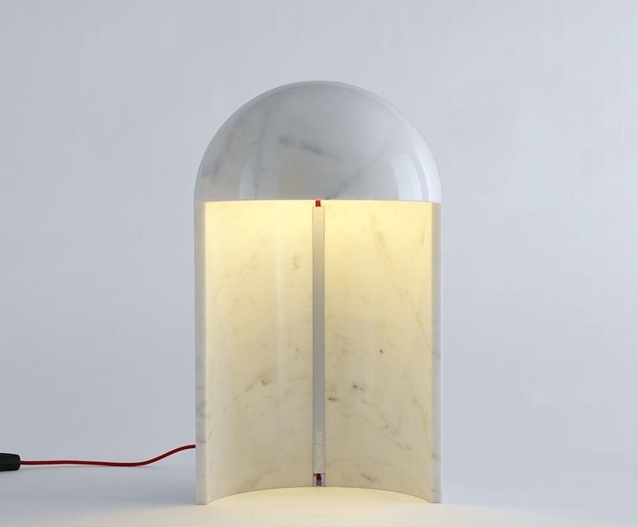 Milano2015 marble table lamp by Carlo Colombo - Photos courtesy of Fontana arts.