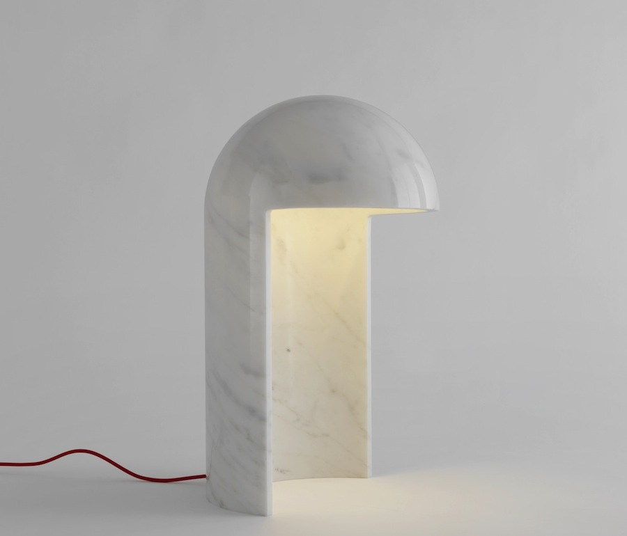 Milano2015 marble table lamp by Carlo Colombo