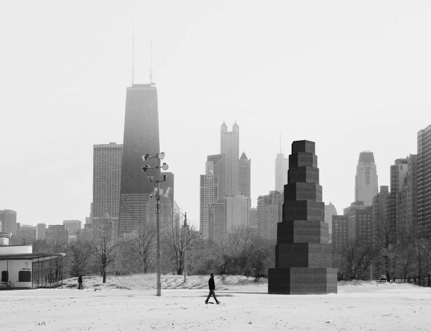 The Cent Pavilion by Pezo Von Ellrichshausen + Illinois Institute of Technology - Courtesy of Chicago Architecture Biennale 2015.