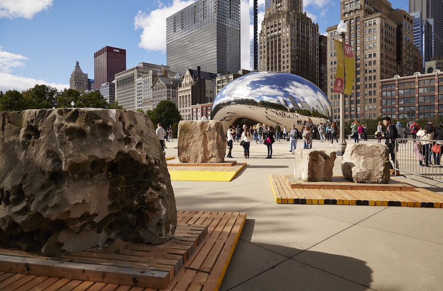 The School of the Art Institute of Chicago and NLÉ in Millennium Park.  Photo by Steve Hall, © Hedrich Blessing - Courtesy of the Chicago Architecture Biennial