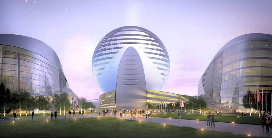Astana Expo 2017, Kazakhstan Pavilion - Frame from YT official video.
