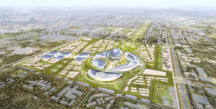 Astana Expo 2017, Masterplan - Frame from YT official video.