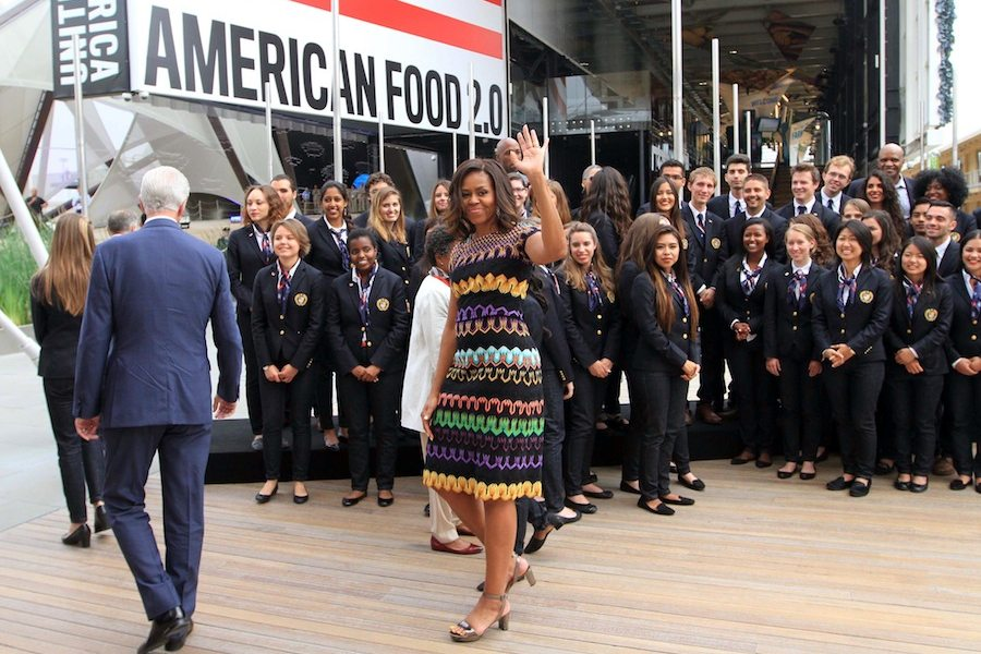US First Lady Michelle Obama visits the UNited State Pavilion at Milan Expo 2015. - Photo by Daniele Mascolo, courtesy of Expo 2015.
