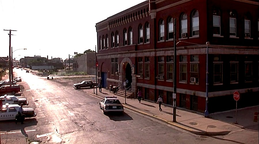 """Maxwell Street House Precint, Chicago 1889. Frame from the 80s TV series """"Hill street blues"""" - The series about everyday life in a police polis station was shot mostly in Chicago."""