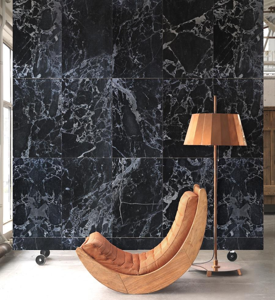 Blacl Marble - Materials, wallpaper collection by Piet Hein Eek for NLXL - Photo by NLXL.