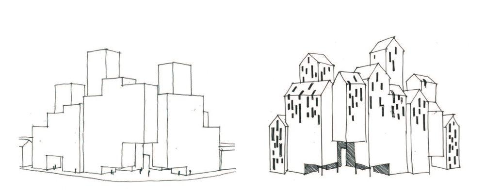 Sketch by Team A - Maarten Baas and Van Aken Architecten.