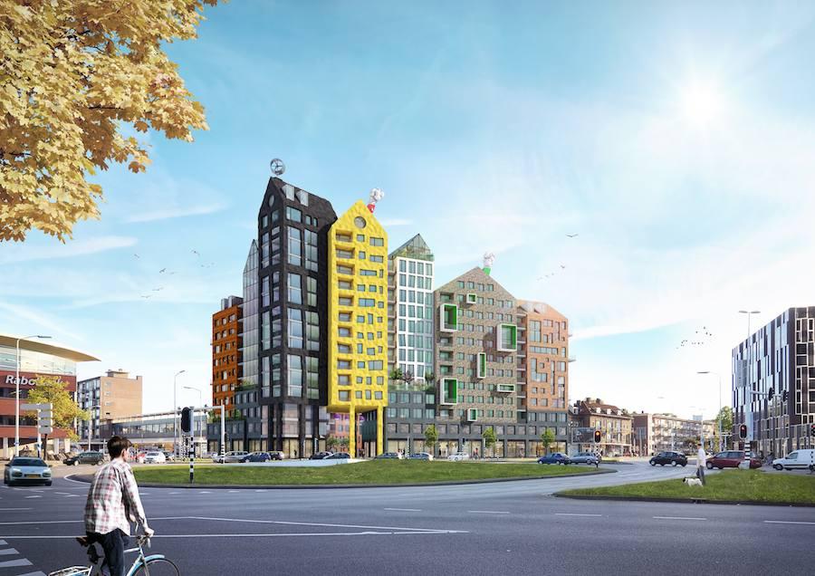 House UP by Team A - Maarten Baas and Van Aken Architecten in Eindhoven ugliest place.