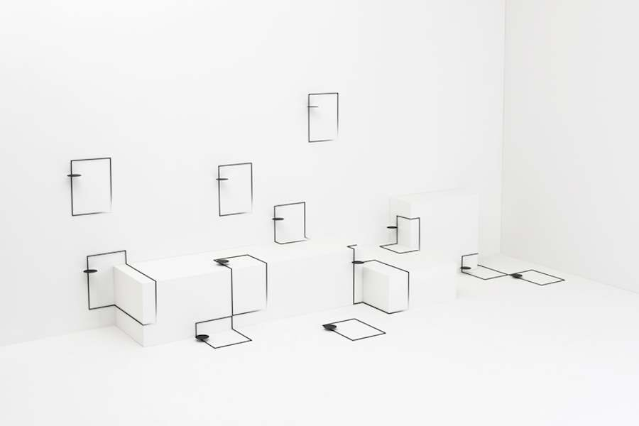 Border Table by Nendo for Eye of Gyre - Photos by Hiroshi Iwasaki and Masaya Yoshimura - Courtesy by Nendo.