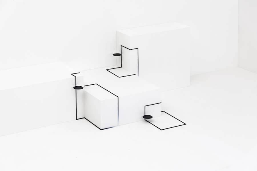 Border Table by Nendo for Eye of Gyre