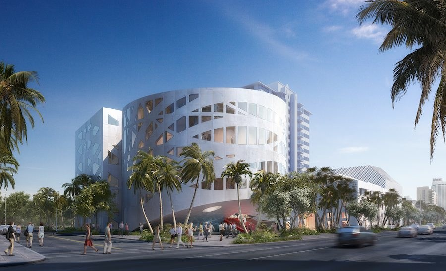 Faena Arts Center, front. Image by dbox, courtesy of OMA.