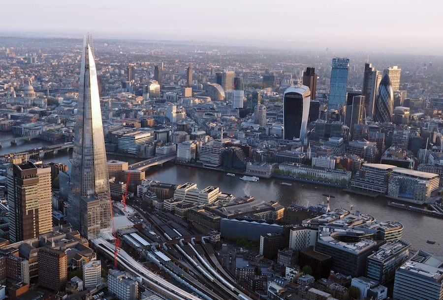 London skyline shot from air ballon - Photo by Daniel Chapma.