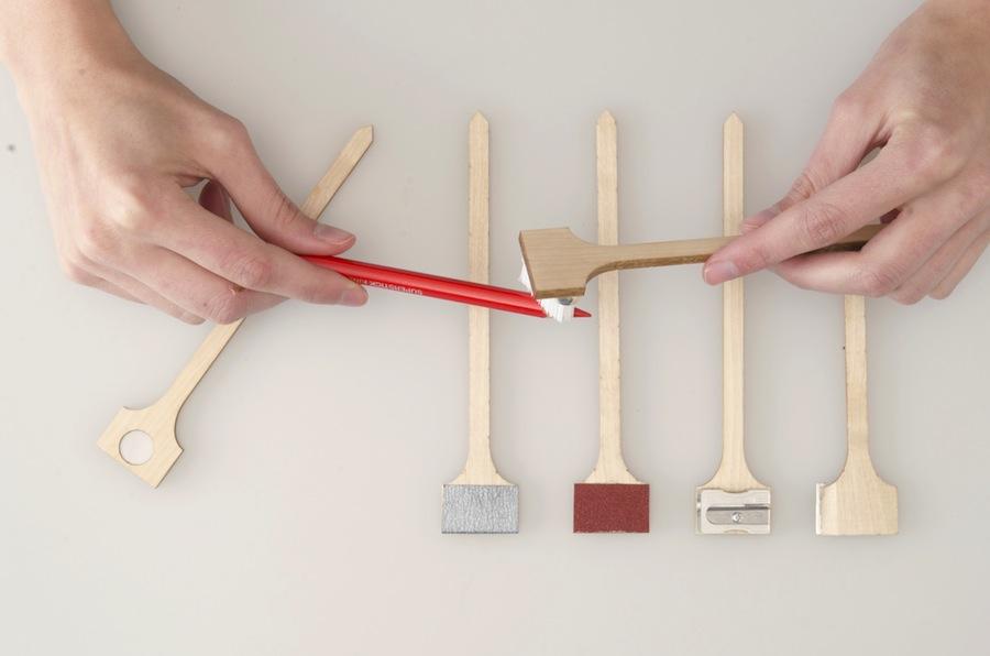 """Finicky sharpeners kit"" Luca Mantenuto."